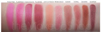 my favorite blushes e from sleek makeup it s a uk brand i own pixie pink flushed life s a peach rose gold sunrise 3