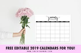 Microsoft Free Calendar Template Free Fully Editable 2019 Calendar Template In Word