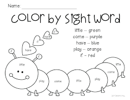 Sight Word Coloring Free Hidden Sight Words Coloring Pages Word