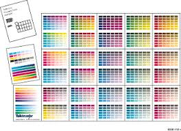 Printing Colour Chart Printing And Using The Color Sampler Charts