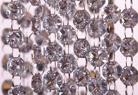 thumbnail 1 more photos for silver 18mm glass crystal garland strand