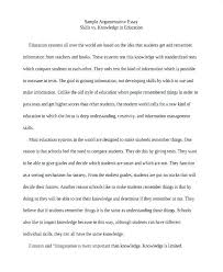 Topics For Exemplification Essays An Example Of Argumentative Essay Sample Essay Topics For High