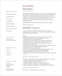 Data Analyst Resume Impressive 60 Sample Data Analyst Resumes Sample Templates