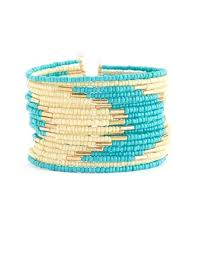 Waves of <b>seed bead</b> color are separated by small bugle beads ...