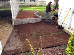 flagstone patio on slope ruined by