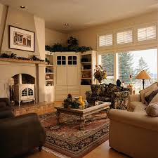 ... Living Room, Family Room Decorating Ideas With Carpet And Table And  Sofa With Cushion And ...