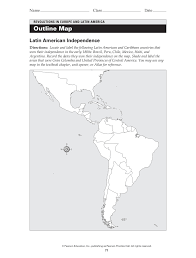 Revolutions In Europe And Latin America Outline Map Fliphtml5