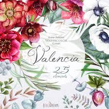 Wedding Watercolor Flowers Clipart Helleborus Flowers