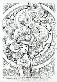 Small Picture 482 best Mermaid Coloring Sheets images on Pinterest Mermaid