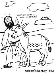 Small Picture Balaams Donkey Talks Coloring Sheet Wesleyan Kids