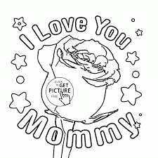 Best Mom Coloring Pages To Print Rose For Mommy Mother S Day Page Kids
