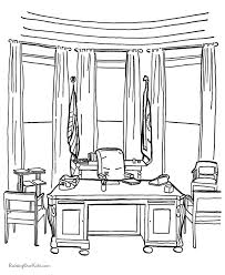 Small Picture The Oval Office Coloring page 003