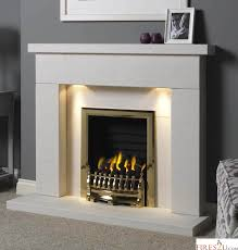 gallery durrington 48 limestone fireplace suite inc downlights surround backpanel and hearth