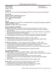 Cover Letter Psychology Resume Samples School Psychology Resume