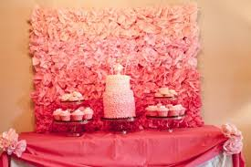 pink ombre backdrop for a dessert bar love this