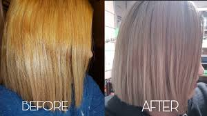 Orange Hair Colour Chart How To Tone Brassy Hair With Wella T14 050