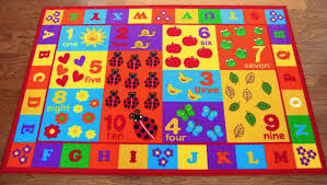kids abc educational alphabet letter numbers anti skid area rug size 3 3 x 5 com