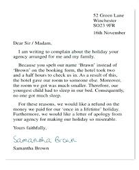 Compliant Letter Format Holiday Complaint Letter Template Gotostudy Info