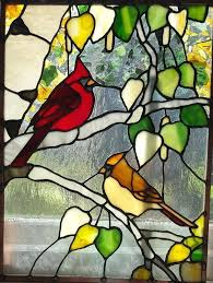 stained glass birds birds cardinals stained glass birds on a wire