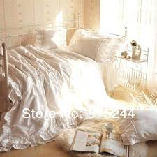 white ruffle duvet white ruffle romantic lovely bedding glamour king bedding sets queen beach bright city