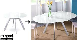 expandable glass dining table the erfly expandable round glass dining table expand furniture folding tables smarter