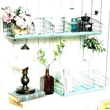 shelves with baskets and hooks wall shelf with baskets and hooks wire metal unit full size shelves with baskets and hooks