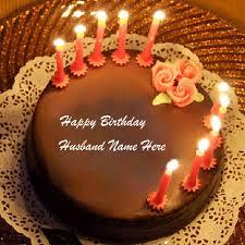 Write Name On Birthday Cake Bday Wishes Cakes