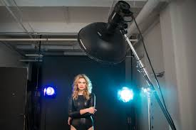 dramatic studio lighting. Lindsay Adler Photography - Creative Studio Lighting Beauty Dish + 2 Gelled Rim Lights Dramatic