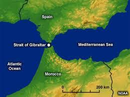 Image result for Strait of Gibraltar