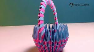 Design Craft How To Make A Paper Basket Paper Design Hand Craft