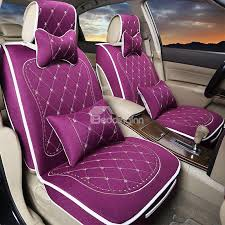 49 luxurious elegant design embroidered patterns soft universal car seat covers set