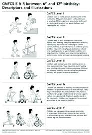 Cerebral Palsy Growth Chart Gmfcs Five Gross Motor Function Classification System Gmfcs