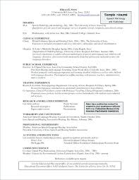 Sample Resume For Speech Language Pathologist Create My Resume ...