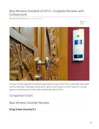 Ring Doorbell Comparison Chart 2019 Best Wireless Doorbell Of 2019 Complete Reviews With Comparisons