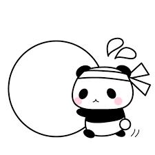 運動会玉転がしパンダちゃんイラスト 無料イラスト素材素材ラボ