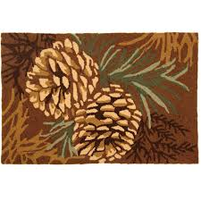 pine cone multi 2 ft x 3 ft area rug