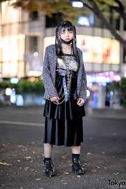snakeskin print jacket face mask leather harness belt platform boots silver rings in harajuku