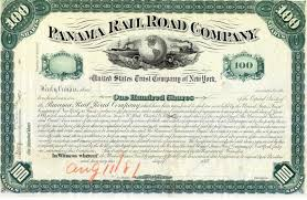 Stock Certificats Stock Certificates Of The Panama Railroad