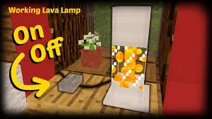 Minecraft How To Make A Working Lava Lamp Youtube