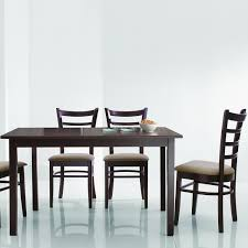 dining room modern  piece dining set with black metal chair and