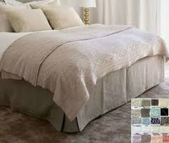 Box Bed Skirt  Multiple Colors to Choose  Minimalistic Classy ...