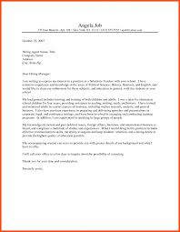 Cover Letter Examples For Teachers Program Format
