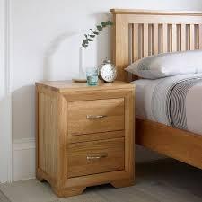 bevel natural solid oak 2 drawer