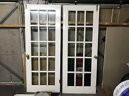 white 15 panelled clear bevelled glass