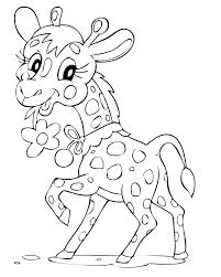 Girafe A Colorier Dessincoloriage