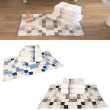 Luxury Bathroom Rugs Sally Mosaic Square Supersoft Luxury Cotton Bathroom 550g Towels