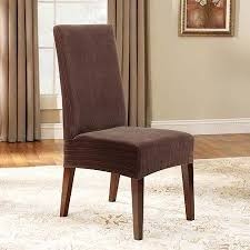 sure fit stretch pinstripe short dining room chair slipcover brown