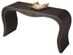butler milano leather console table contemporary console tables by gwg