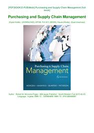Designing And Managing The Supply Chain Ebook Book Purchasing And Supply Chain Management Unlimited