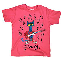 amazon pete the cat book character licensed groovy note kids youth tee m clothing